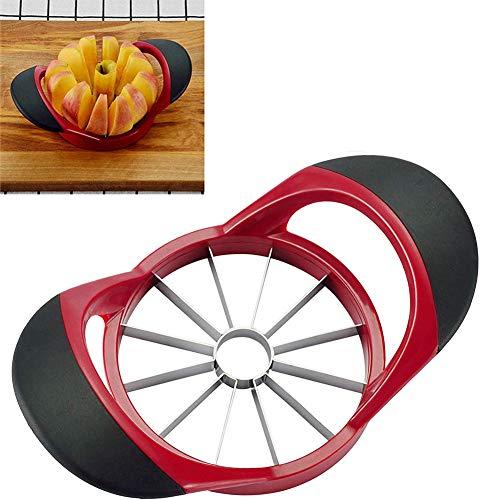 ZOOENIE Edelstahl Obst Apfel Birne Einfache Cut Hobel Cutter Divider Schäler und 12 Sharp Blade, geschnitten Obst Multi-Funktion Umweltfreundliche Einfach Sauber