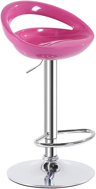 TXXM Barstools Bar Chair Lift Chair Back bar bar Stool redating bar Chair bar Chair (color   C)