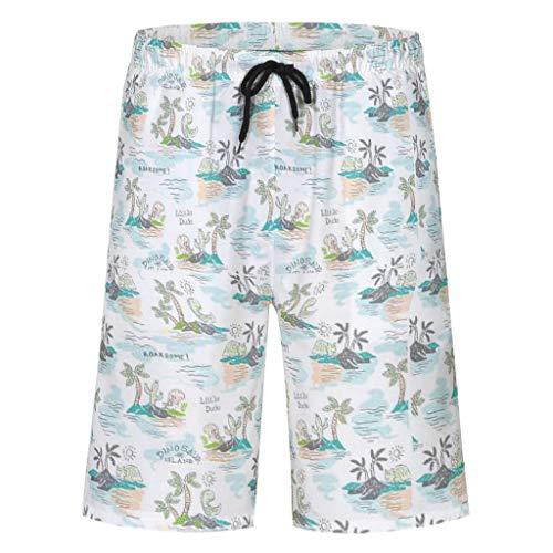 Bannihorse heren zwembroek vrije tijd short zomer strandmode sneldrogend zwemshort zwempak zwemshorts met verstelbare trekkoord zakken zonder mesh voering