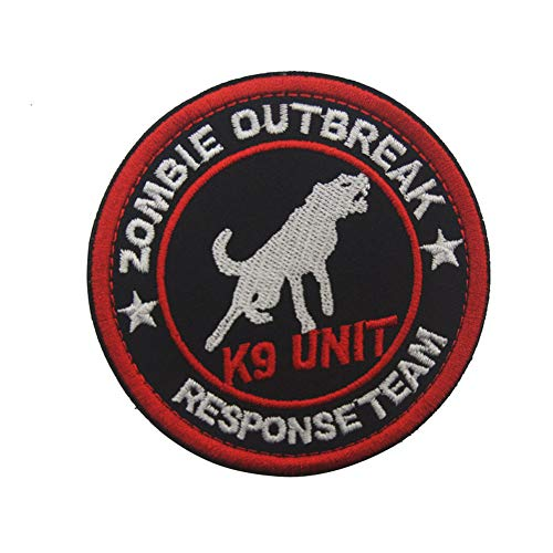 SOUTHYU K9 Zoombie Outbreak Response Team Tactical Morale Patch Embroidered Military Emblem Badge for Vest Harness, Hook and Loop Patch