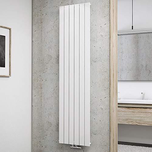Schulte Design-Heizkörper Aachen, 180 x 46 cm, 910 Watt Leistung, Mittelanschluss, alpin-weiß, Wohnraumheizkörper für Zweirohr-Systeme