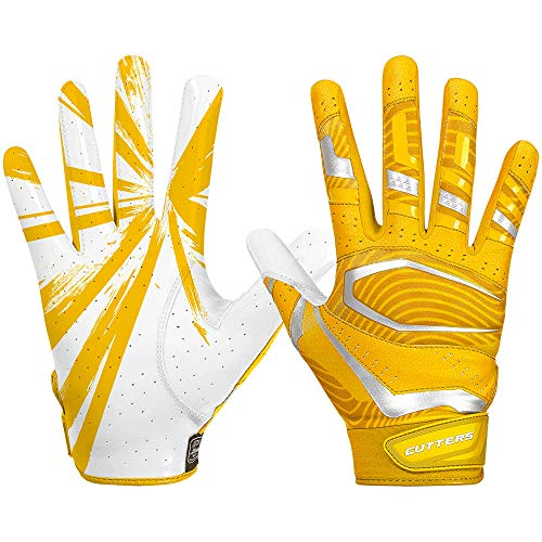 Cutters Gloves S452 Rev Pro 3.0 Football Receiver Handschuhe Design 2018 - gelb Gr. M