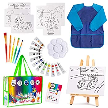 Paint Set For Kids - 27 piece Kids paint sets Painting Supplies for Drawing Kids Art Canvas Painting