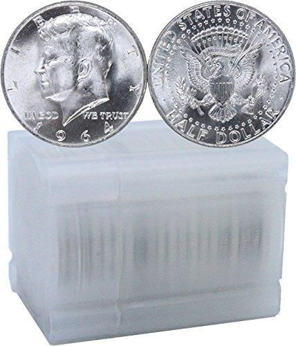 1964 - P/D Kennedy Half Dollar Roll of 20 Coins BU