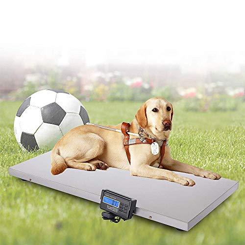 HUKOER Hochgenaue digitale Haustierwaage, 440 lbs Tierarztwaage 110 x 55 cm Edelstahl-Gewichtswaage für Großvieh, Post, Transport, Lager, Fabrik