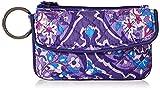 Vera Bradley Women's Signature Cotton Jen Zip ID Case Wallet, Regal Rosette