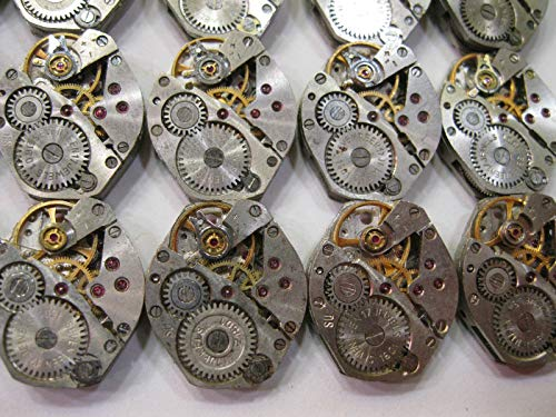Watch Movements lot of 16 Russian Women's Watch mechanisms 18 mm Rhombus Steampunk Art Parts DIY 5