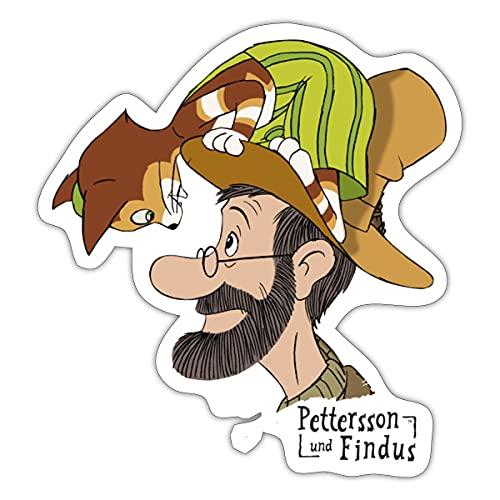 Spreadshirt Pettersson Und Findus Unterhalten Sich Sticker, One Size, Mattweiß