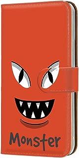 ケース 手帳型 カードタイプ HUAWEI P20 Pro (HW-01K) [モンスター・レッド] パロディ キャラクター ピートゥエンティプロ スマホケース 携帯カバー [FFANY] monster-152@01c