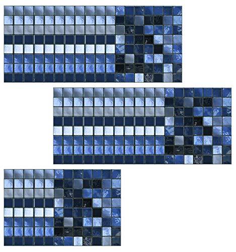 Honeyhouse Adhesivo para azulejos de 10 x 10 cm, lámina autoadhesiva para azulejos, vinilo decorativo para baño, pared, cocina, resistente al agua, fácil de limpiar