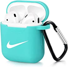 AirPods Case Wireless Charging Protective Soft Silicone Cover and Skin for Apple AirPods 2&1 Charging Case (Green)