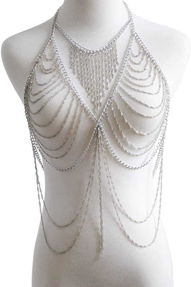 CHXISHOP Women's Sexy Body Chain Beach Popular shop is the lowest price challenge outlet Show Clothing Exaggerated