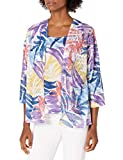 Alfred Dunner Women's Petite Watercolor Leaf...