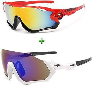 Óculos de Sol Esportivo Espelhado Mtb Speed Kit 2 Unidades