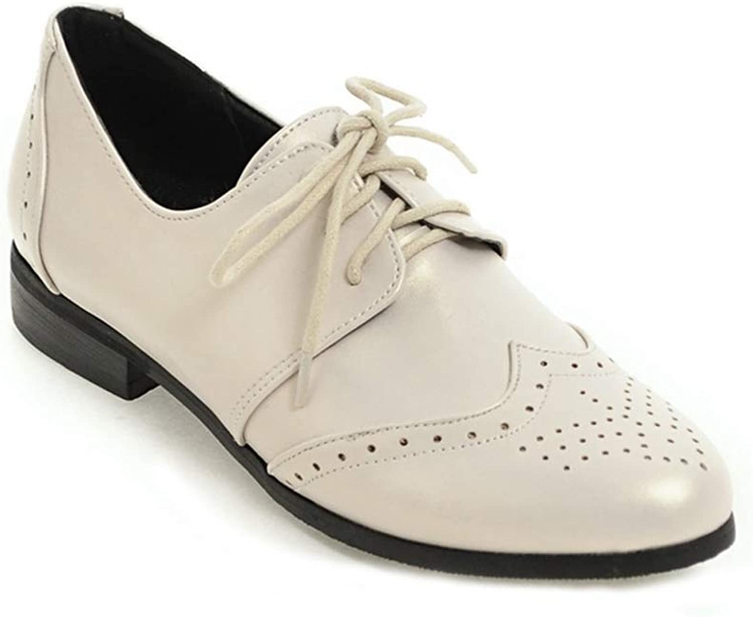 Elsa Wilcox Women Wingtip Perforated Lace Up Low Heel Vintage School Oxfords Brogues Flat Saddle Oxford shoes