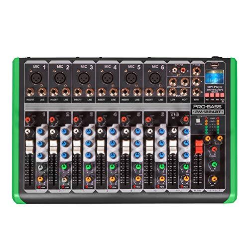 MESA DE SOM 8 CANAIS COM USB/BT PM-1224BT 220V