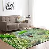 Alfombra,Teppich,Soft Velvet Carpet For Living Room River Landscape Pattern Modern Design Anti-Slip Area Rug Kid's Bedroom Floor Pad Nursery Play Mat Porch Doorway Carpet Runner,50 * 80Cm