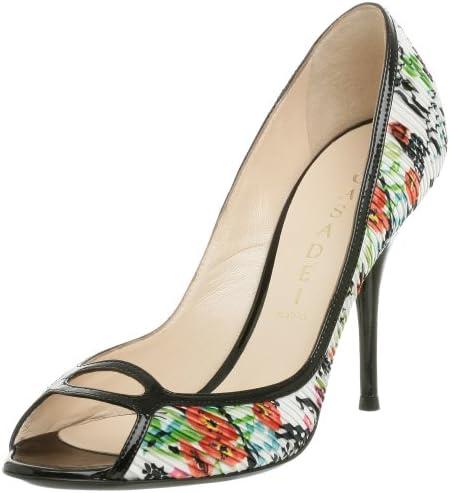 Sale Fashion Casadei Women's 8034 Peep Toe 8.5 M Nero Pump