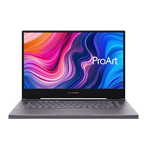 "ASUS ProArt StudioBook 15 H500GV-HC039R – Computer portatile da .6"" 4K Ultra HD (i7-9750H, 32 GB RAM, 512 GB SSD, GeForce RTX 2060 6 GB GDDR6, Windows 10 Pro) Grigio stella – Tastiera QWERTY spagnola"
