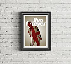 OASIS Inspired Poster | 11x14 | Print | Live Forever | Wall Art | Home Decor