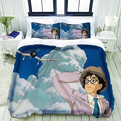 3D Bedding Comforter Copre Set Biancheria da Letto -Si alza il vento-Singolo (135x200cm) Singolo: 1 copripiumino + 1 federa