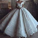 QING XIN-1225 Abiti da Sposa Sexy di Lusso Pizzo Abito da Sposa Ball Gown Profondo Scollo a V con Spalle Vestito da Sposa Abito da Sposa Lungo Aperto Vestido De Noiva Abiti da Cerimonia