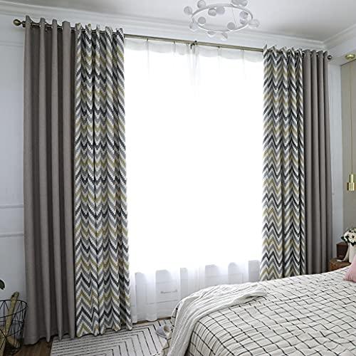 Orumrud Cortinas Dormitorio Moderno Tela Suave Gruesa para Ventanas de Habitación Juvenil con Trabillas 1 Piezas 140 x145 cm (Color : B, Tamaño : H260cm×B140cm)