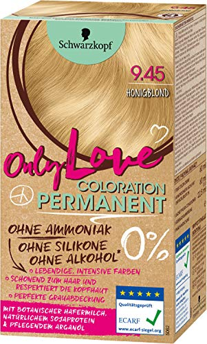 SCHWARZKOPF ONLY LOVE Coloration 9.45 Honigblond, Stufe 3, 1er Pack (1 x 143 ml)