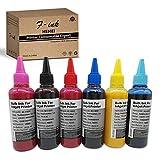 Tinta de sublimación de 6 botellas compatible para Epson 6 colores T50 P50 1400 1500W R300 RX600 Impresoras, prensa de transferencia de calor