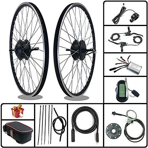 SCHUCK Electric Bike Modification kit is Suitable for 36V/48V 500W 16'/20'/24'/26'/27.5'/28'/29'/700C Rear-Rotate Motor with KT-LCD6 Display (48V 350W 29inch)