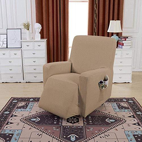 YUNZHONG Funda elástica para sillón reclinable con bolsillos laterales y protector de muebles suave, adecuado para niños, tamaño estándar_B