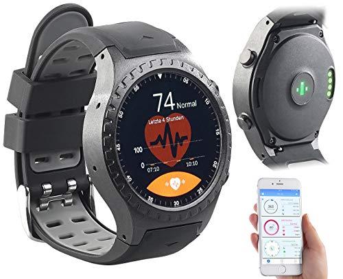 Newgen Medicals Smartwatch SIM GPS: GPS-Handy-Uhr & Smartwatch für iOS & Android, Bluetooth, Herzfrequenz (Handy Uhr mit SIM)