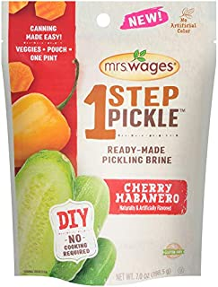 Mrs. Wages 1 Step Pickle Ready-Made Pickling Brine, Cherry Habanero, 3 Count
