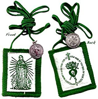 Immaculate Heart of Mary Green Scapular - Regular Cord