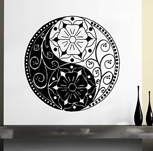 Patrón Tribal de la flor Tatuajes de Pared Bohemio Mandana Flores Yoga Pegatinas de Pared Decoración Para El Hogar Sala de Arte Mural de Pared Wm 75x75 cm
