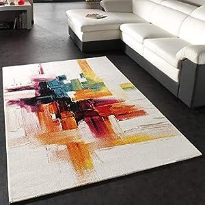 Paco Home Alfombra Moderna Splash Diseño Cepillo De Colores Novedad Embalaje Original, tamaño:160x230 cm