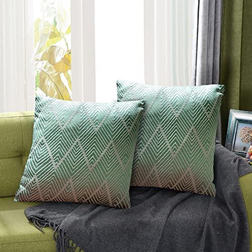 Juego de 2 Fundas de Cojín Funda de Almohada Lino de algodón Decorativa Geometría Moderna...