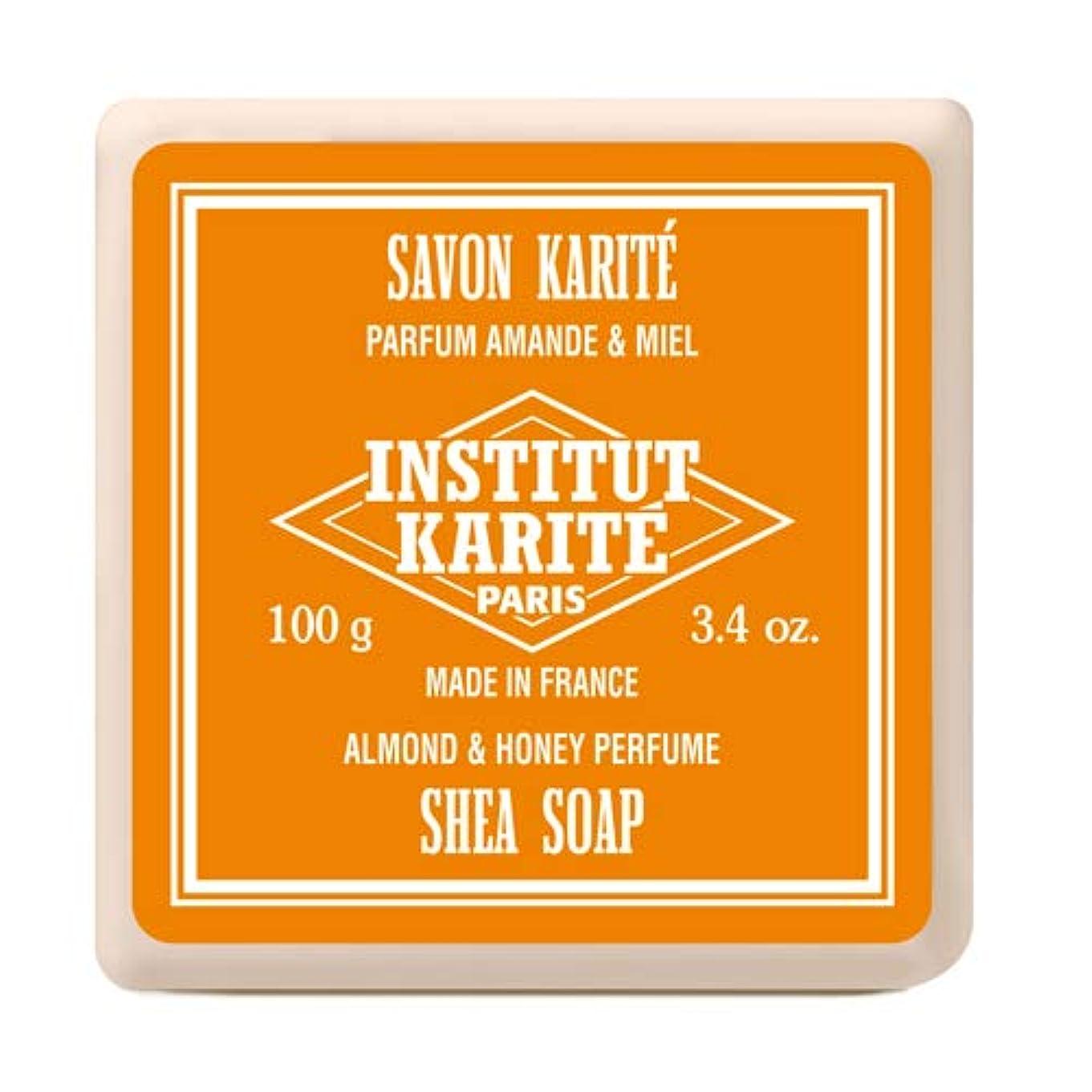 おもてなしクアッガお風呂を持っているINSTITUT KARITE インスティテュート カリテ Shea Wrapped Soap シアソープ 100g Almond & Honey アーモンド&ハニー