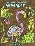 Zen Doodle Colorear - Cuadro grande - Animales