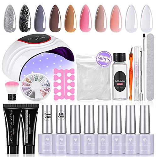 Janolia Kit de Esmaltes de Uñas 6 Colore de Gel UV para Uñas 2 Colore Gel...