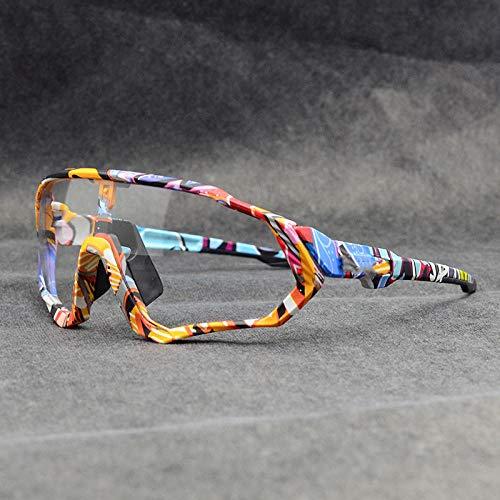PSHKJ Gafas fotocromáticas Gafas de sol de ciclismo Hombres mujeres Deporte Mtb Mountain Bike Glasses-01