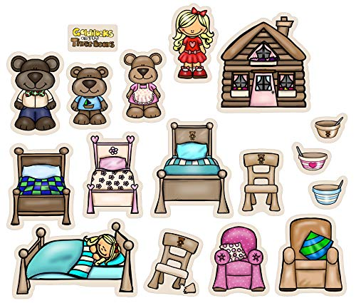 Goldilocks and Three Bears Flannel/ Felt Board Figures 17 Pieces PRECUT Playboard Story Board Set Coloring Activity Page