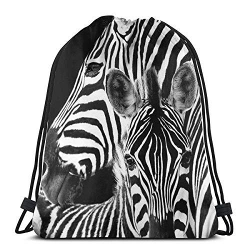 "Yuanmeiju Zebra 3D Print Drawstring Backpack Rucksack Shoulder Bags Bolsa de Gimnasio For Adult 17""X14"""