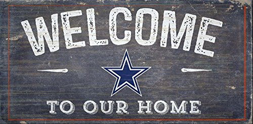 Fan Creations Welcome Dallas Cowboys Distressed 6 x 12, Multi