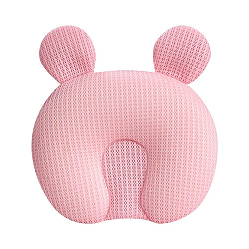 Leoboofe Cuscino per Lo Styling dei Bambini per i Bambini da 0-6 Mesi Prevenire la sindrome della Testa Piatta Cuscino per Neonati Cuscino per Modellare la Testa dei Bambini Appena Nati - Rosa