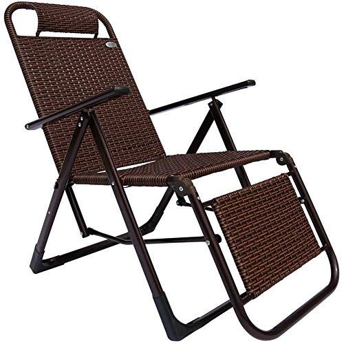 Axdwfd Liegestuhl Liegestuhl, Gartenmöbel Rattan Liegestuhl Mittagspause Stuhl Einzel Schaukelstuhl Strandkorb Angelstuhl Tragbarer Klappstuhl