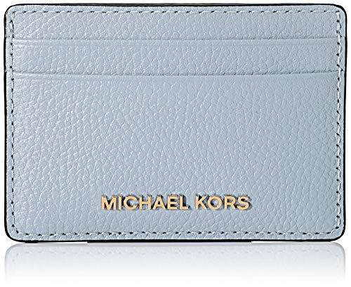 Michael Kors Jet Set, TARJETERO para Mujer, Azul claro, Small