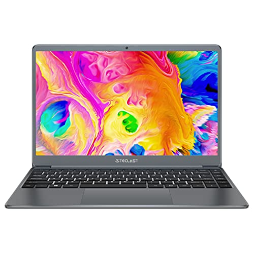 TECLAST F7Plus 2 PC Portatile 14.1 Pollici Laptop FHD Notebook 8 GB RAM 256 GB SSD, Intel Gemini Lake N4120, Intel UHD Graphics 600, Windows 10 Grigio, Tastiera QWERTY