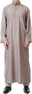 Muslim Men Long Sleeve Thobe Middle East Saudi Arab Kaftan Islamic Abaya Dress Dubai Robes