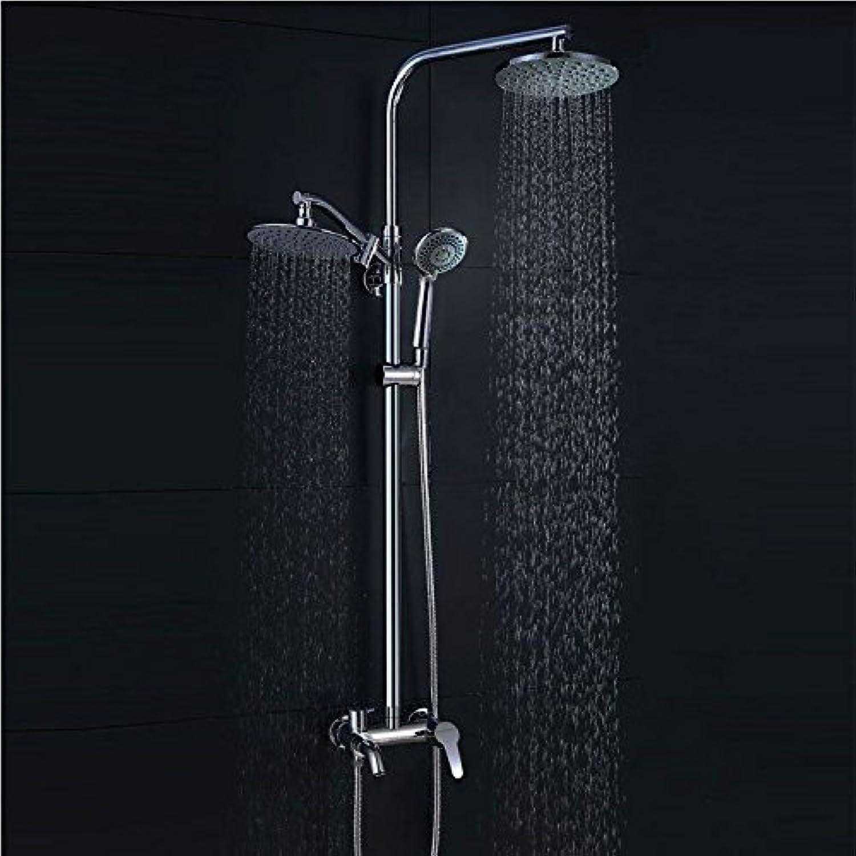 ETERNAL QUALITY Badezimmer Waschbecken Wasserhahn Messing Hahn Waschraum Mischer Mischbatterie Tippen Sie auf Dusche Dusche Wasserhahn Bad Regen Set Dusche Küchenspüle AR